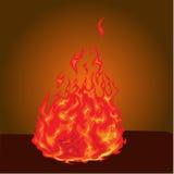 Brandbrännskada Fotografering för Bildbyråer