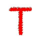 Brandbrief T op witte achtergrond met het knippen van weg wordt geïsoleerd die vector illustratie