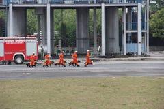 Branddrillborr Fotografering för Bildbyråer