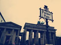 Brandeburger-Felsen, Pariser Platz - Berlin Lizenzfreie Stockfotografie