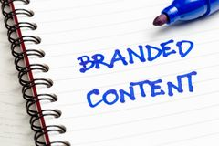 Branded Content Note royalty free stock photos