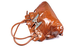 Branded leather purse Stock Image