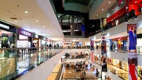 Branded shops in a Shopping Malls in Mumbai Royalty Free Stock Photos