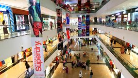 Branded shops in a Shopping Malls in Mumbai Stock Photo