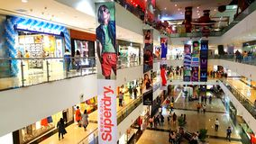 Branded shops in a Shopping Malls in Mumbai Royalty Free Stock Photo