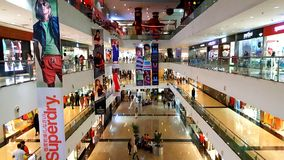 Branded shops in a Shopping Malls in Mumbai Royalty Free Stock Image