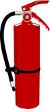 Brandeldsläckare - vektorclipart Arkivbilder