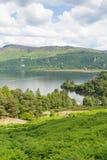 Brandelhow海湾Derwent水湖区Cumbria英国英国 库存照片