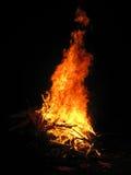 Branden av brädena i mörkret Arkivbild
