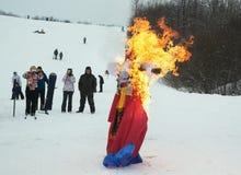 Branden gevuld bij een vakantie in het park royalty-vrije stock fotografie