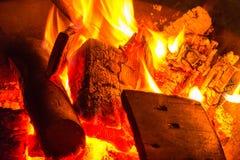 Branden i trädgården 2 Arkivfoto