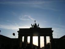 Brandenberg brama przy zmierzchem Obraz Stock
