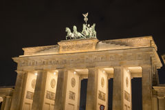 Brandenberg Gate. Busy Brandenberg Gate at night Royalty Free Stock Photos