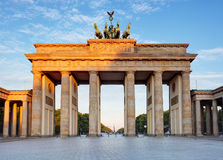 Brandenburg in Berlin, capital of Germany Royalty Free Stock Images