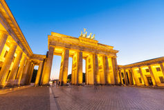 Brandenburg brama, Berlin, Niemcy (1788) Zdjęcie Stock