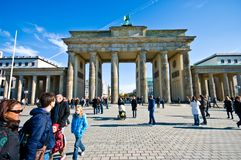 Brandenburg bramy plac, Berlin fotografia stock