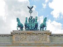 brandenburg bramy quadriga Zdjęcie Royalty Free