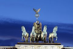 brandenburg bramy quadriga Fotografia Stock