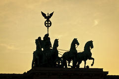 Brandenburg bramy sławny punkt zwrotny w Berlin Obraz Stock