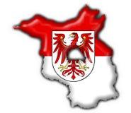 Brandenburg button flag map shape Royalty Free Stock Image