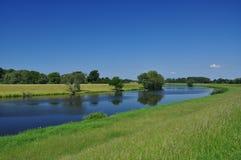 brandenburg elbe germany flod royaltyfria bilder