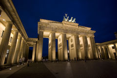 Brandenburg Gate. At night, Berlin, Germany Stock Photography