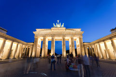 Brandenburg Gate. An evening scene of the Brandenburg Gate (German: Brandenburger Tor), it is a former city gate and one of the most well-known landmarks of Royalty Free Stock Images