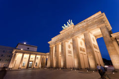 Brandenburg Gate. An evening scene of the Brandenburg Gate (German: Brandenburger Tor), it is a former city gate and one of the most well-known landmarks of Stock Image
