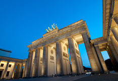 Brandenburg Gate. In Berlin at Blue Hour royalty free stock photos