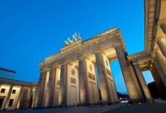 Brandenburg Gate. In Berlin at Blue Hour Royalty Free Stock Photos