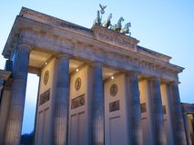 The Brandenburg Gate. Is a triumphal arch, the symbol of Berlin, Germany royalty free stock photography