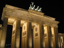 The Brandenburg Gate. Is a triumphal arch, the symbol of Berlin, Germany Royalty Free Stock Photo