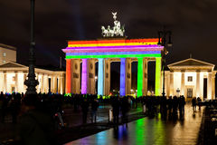 Brandenburg gate anf festival of lights in Berlin Stock Photo