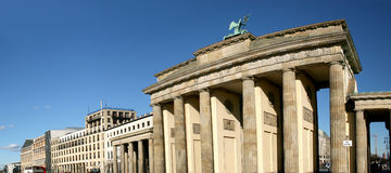 Brandenburg Gate in Berlin Stock Photography