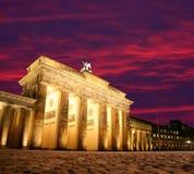 Brandenburg Gate in Berlin. Dawn at Brandenburg Gate in Berlin, Germany royalty free stock image
