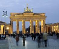 Brandenburg Gate in Berlin. At dusk royalty free stock images