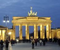 Brandenburg Gate in Berlin. At dusk stock photos