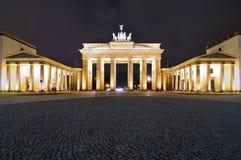 Brandenburg gate in berlin. Brandenburg gate (brandenburger tor) in berlin, germany, at night royalty free stock photos