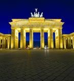 Brandenburg gate, berlin. Brandenburg gate in berlin, germany, at night stock photo