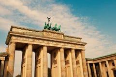 Brandenburg Gate, Berlin. The historical Brandenburg Gate, Berlin stock photography