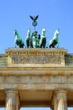 Brandenburg gate, Berlin. The Quadriga on top of the Brandenburg gate, Berlin stock image