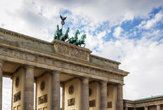 Brandenburg Gate, Berlin. The Brandenburg Gate is a former city gate, rebuilt in the late 18th century as a neoclassical triumphal arch, and now one of the most royalty free stock image