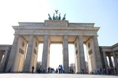 Brandenburg Gate Berlin with Blue Sky stock images