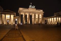 The Brandenburg Gate in Berlin stock photo