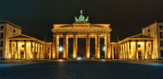 Brandenburg Gate Berlin royalty free stock photos