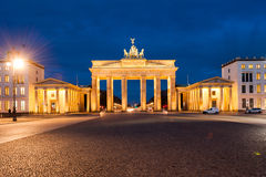Brandenburg Gate, Berlin. Brandenburg Gate (Brandenburger Tor), Berlin, Germany at twilight stock photo
