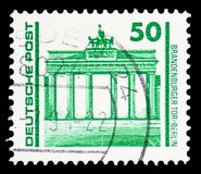 Brandenburg Gate, Berlin, Buildings and monuments serie, circa 1990 royalty free stock photo