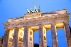 Brandenburg Gate of Berlin at dusk Royalty Free Stock Photography