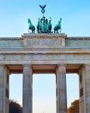 Brandenburg gate, Berlin. Famous Brandenburg gate at sunset in Berlin, Germany stock image