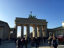 Brandenburg Gate. The Brandenburg Gate in Berlin on a February afternoon Royalty Free Stock Images